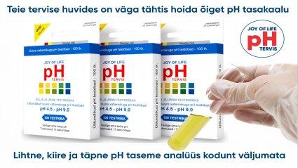 pH tase on koduselt mõõdetav tervisenäitaja, mis osutab mitmele tervisehädale